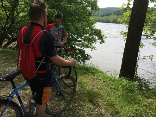 Killer river views when you hit Harpers Ferry—what's that Jefferson line about crossing the Atlantic?