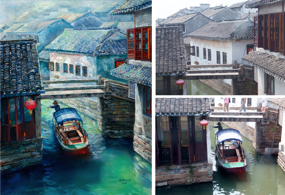 EXHIBIT A: Was that little canal town in China really so blue and green? Sorry. It WAS lovely... but in a very gray and brown sort of way.
