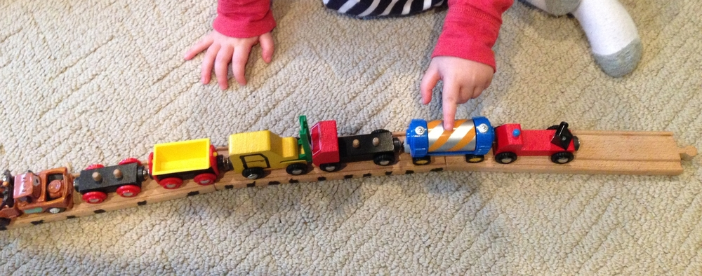 Count trains as you play with them.