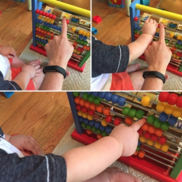 Touch and Count for the little fingers. (8-12 months) It is never too early to introduce this concept.