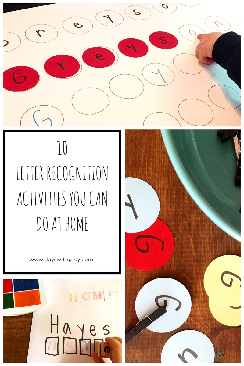 Diy Letter Recognition Activities You Can Do At Home  Days With Grey