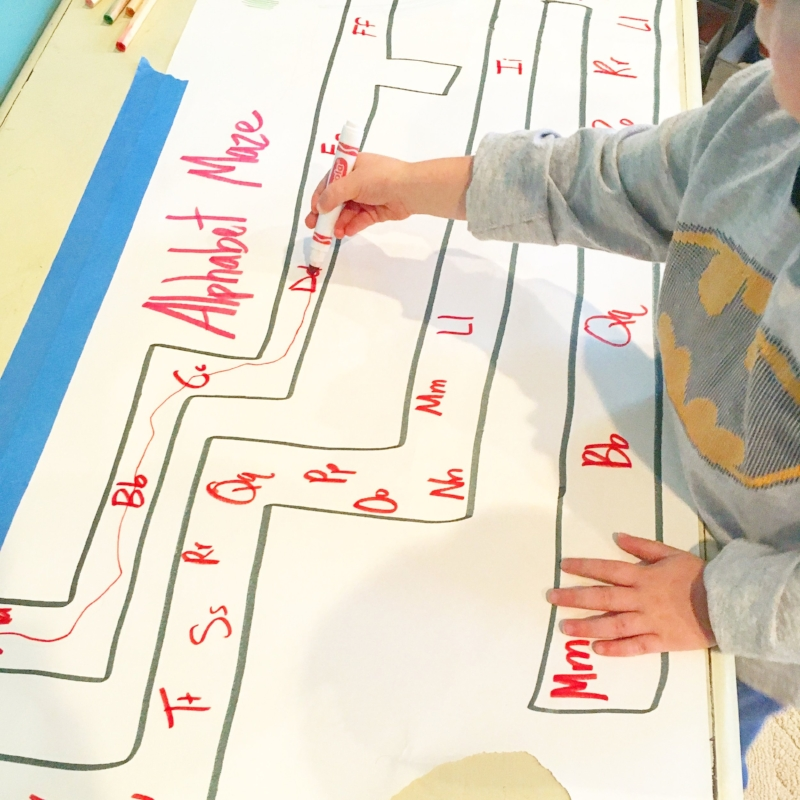 Alphabet Maze Letter Recognition