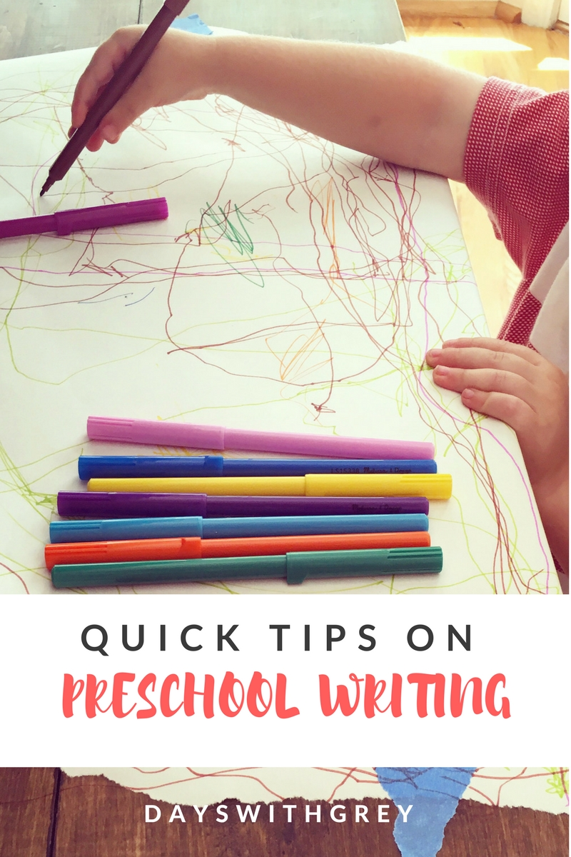 preschool writing