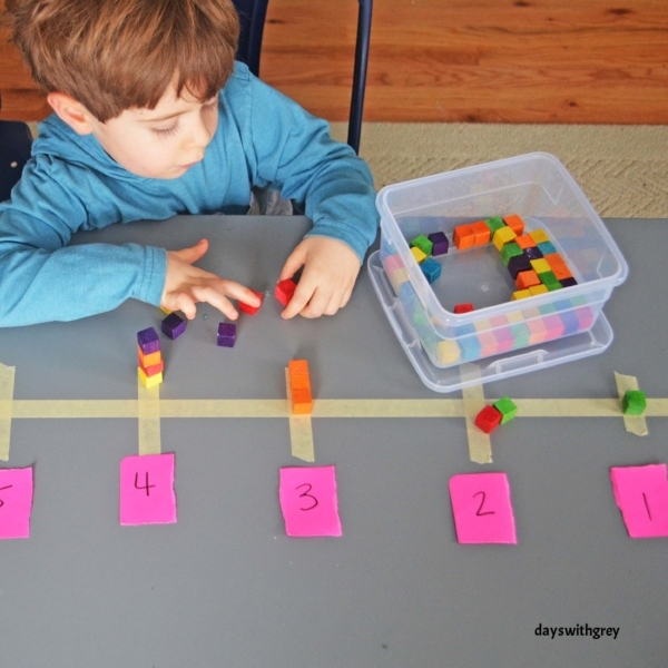 preschool counting game for fine motor