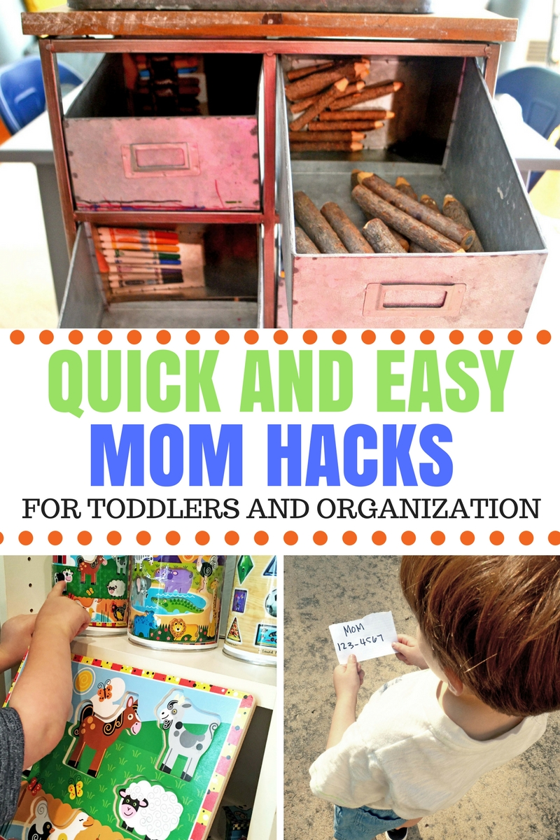 Mom hacks for toddlers and preschoolers