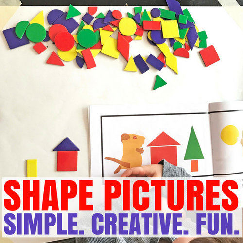 Shape Pictures A Fun Math Breakfast Invitation Days With Grey