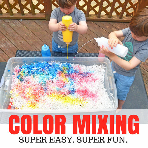 Color Mixing Activity For Preschoolers Days With Grey