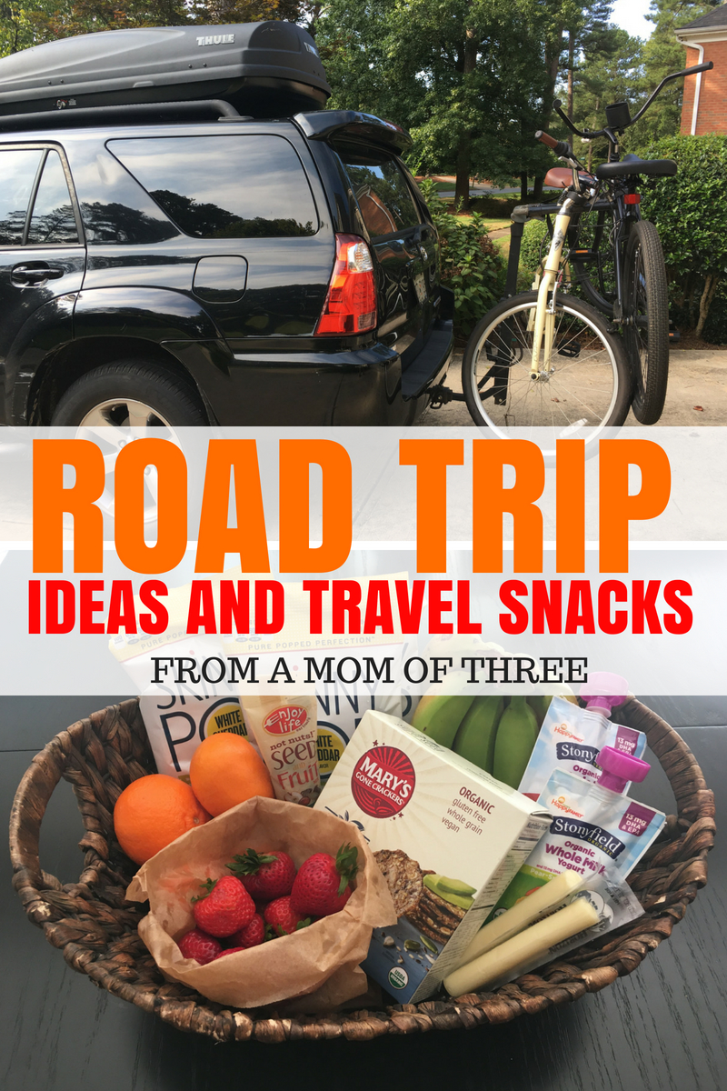 road trip with kids ideas and travel snacks,