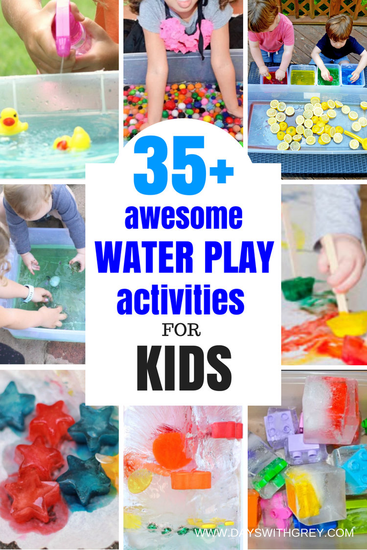35 water play activities for summer days with grey