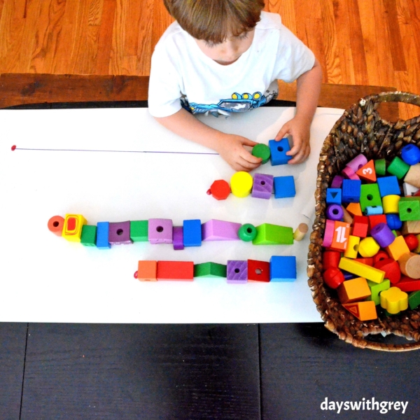 preschool math activity for counting and nonstandard measurement