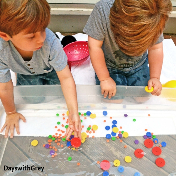 sensory play with water