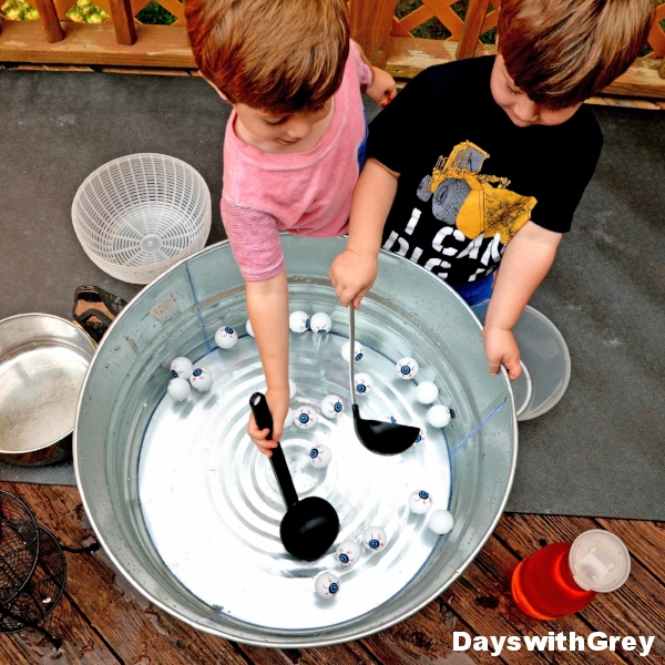 Halloween sensory play for kids