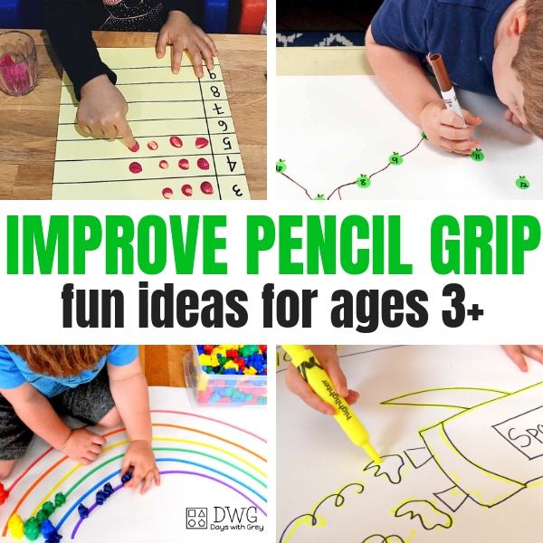 25 Activities To Improve Pencil Grip Days With Grey