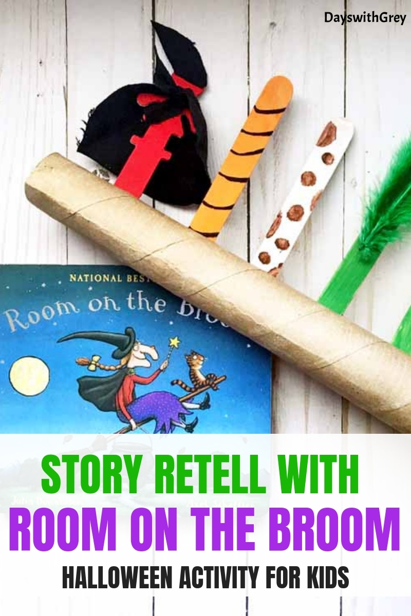 Room on the Broom, Halloween activities for kids, preschool Halloween, Halloween books, Halloween books for kids