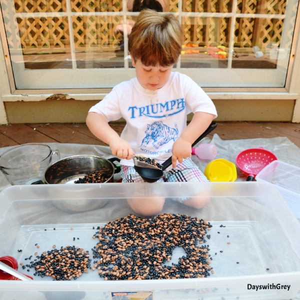fall sensory idea for preschool