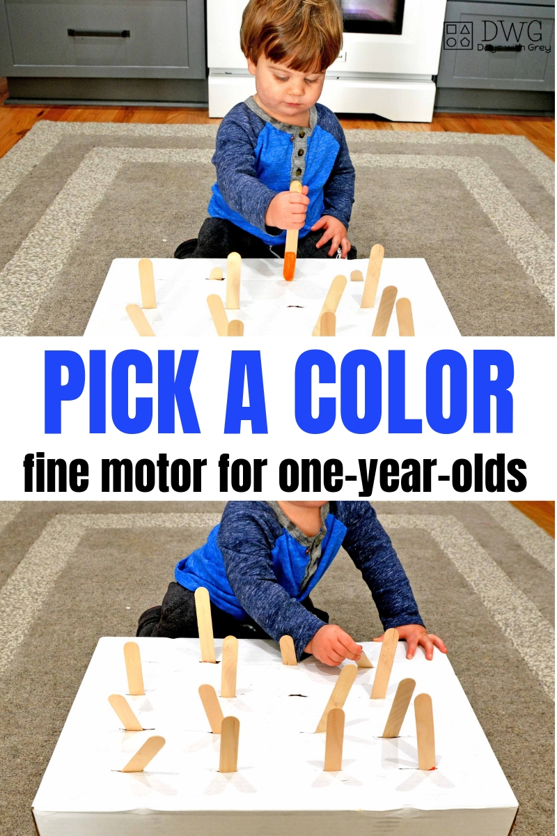 Toddler activity, color game,  fine motor play, simple toddler game, one-year-old games, 18 months fine motor  #indoorgames  #finemotor #preschooler #toddler #oneyearold.jpg