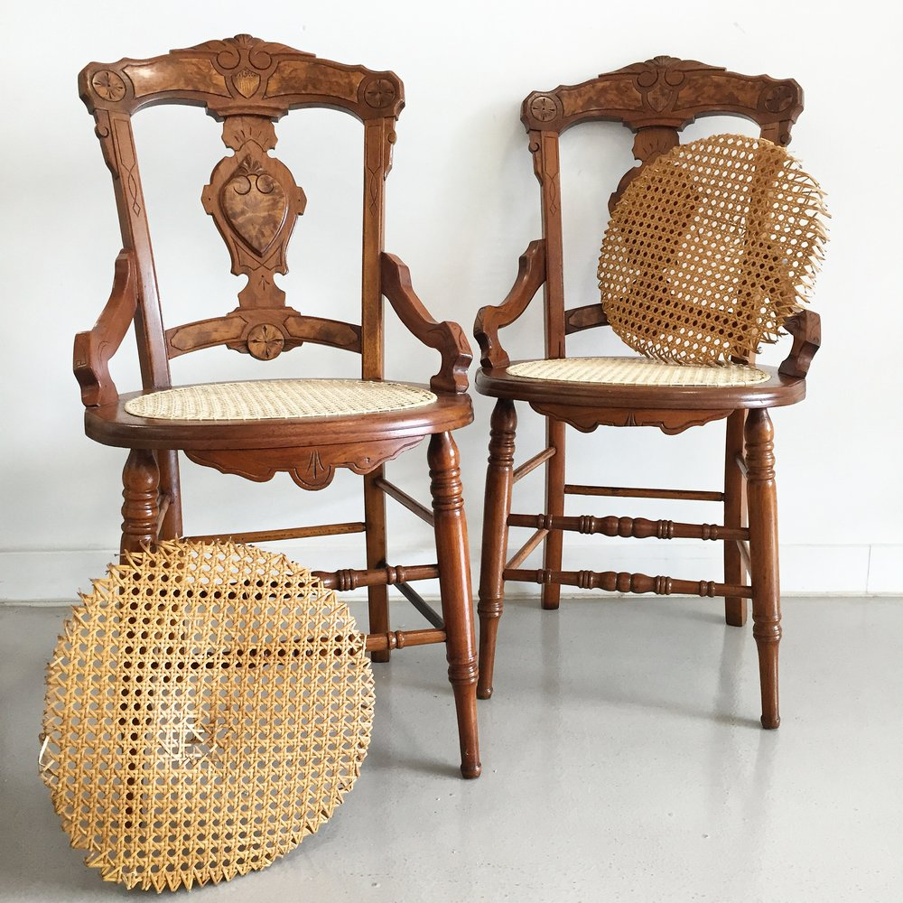 Eastlake Chairs With Caned Seats