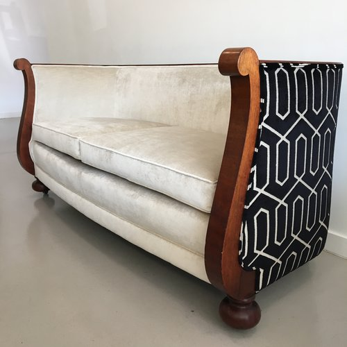 mahogany biedermeier sofa