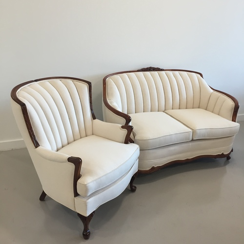 channeled loveseat & chair set