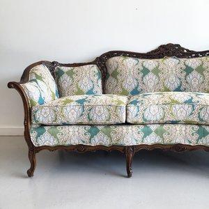 victorian-style sofa