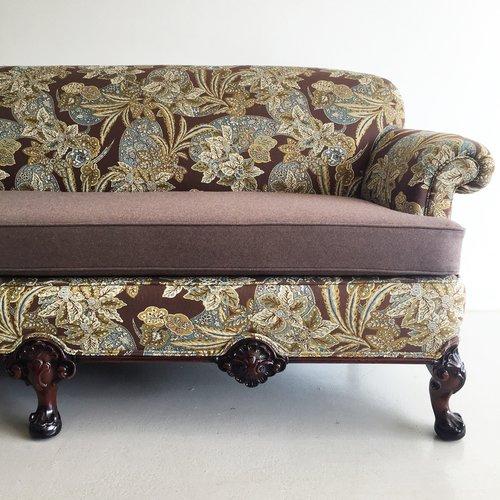 vintage clawfoot sofa