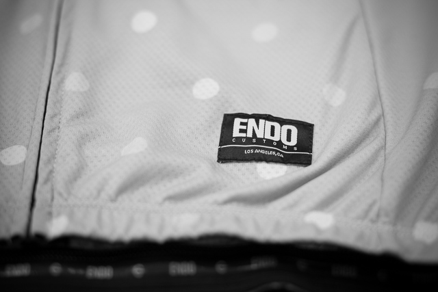 "Team Dream Bicycling Team ""Dot's What's Up"" jersey -  Endo Customs front patch label"