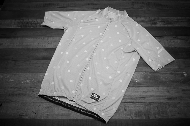 "Team Dream Bicycling Team ""Dot's What's Up"" jersey - front view"