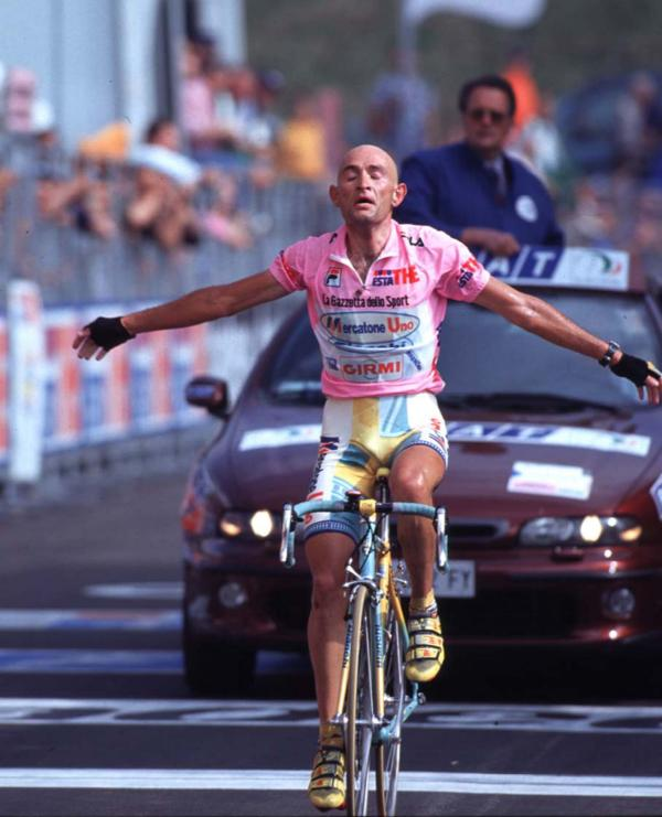 Marco Pantani raced on a classic narrow profile rim