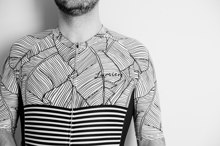 Lumiere Cycling Natural Stripe Jersey - front view