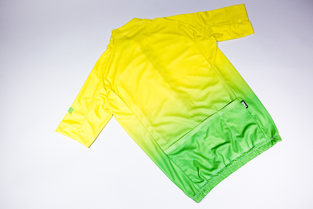 Team Dream Bicycling Team - Get Faded - Lemon Lime Jersey - Back