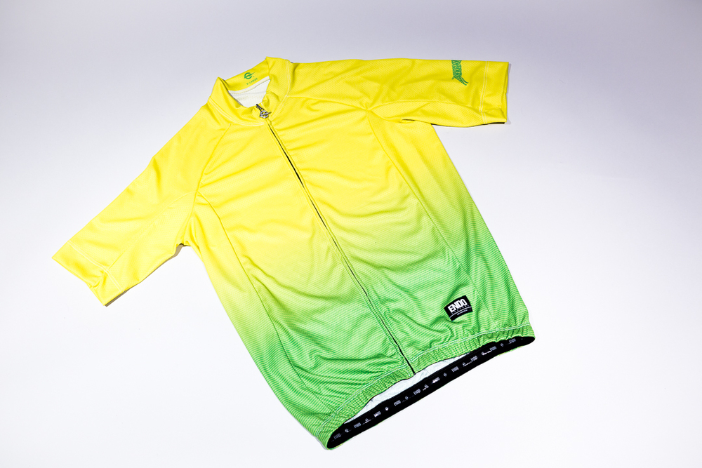 Team Dream Bicycling Team - Lemon Lime Thin Stripe Fade Jersey