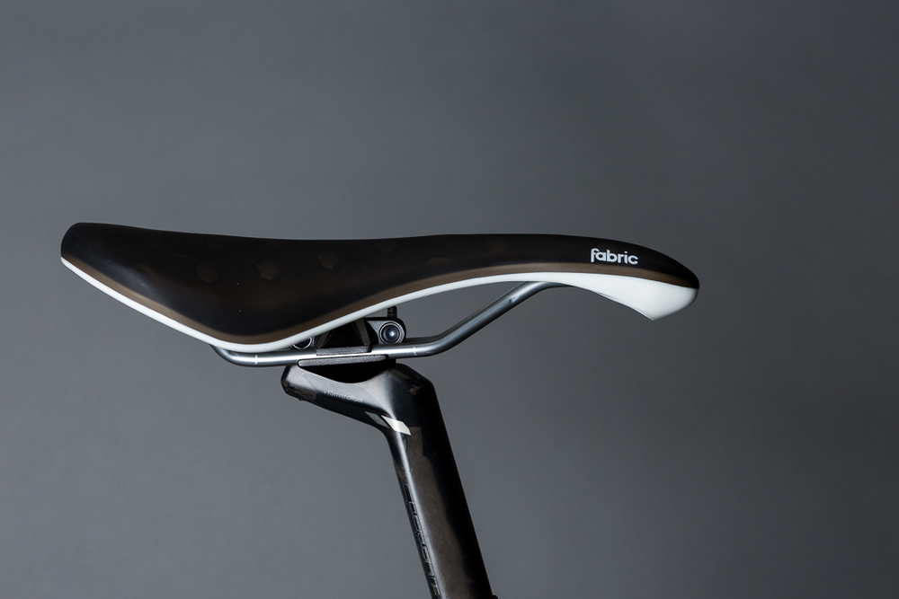 Function and comfort. The Fabric Cell Saddle chosen for Jason's BMC SLR01 Team Machine