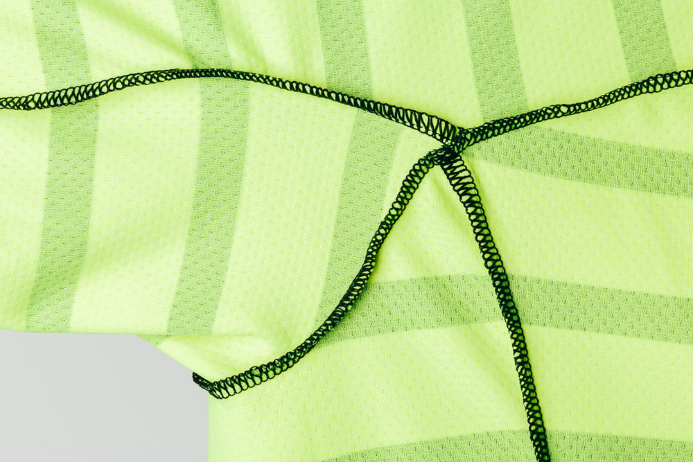 Team Dream Bicycling Team - DayGlo FFF Jersey - construction details