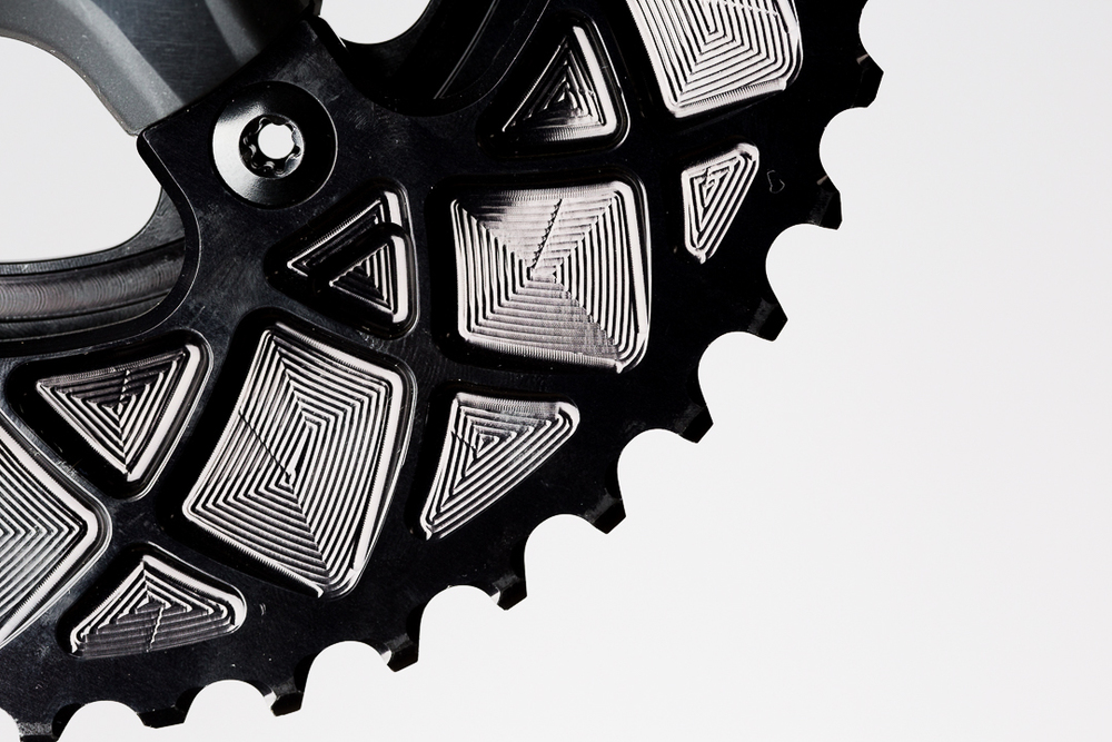 Absolute Black Oval Outer Chainring - CNC machined 7075 aluminum