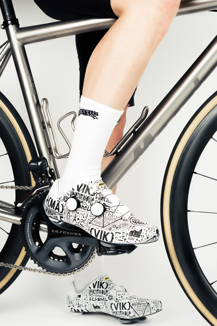 The monochrome print and limited run of the Mavic Cosmic Pro LTD, Paris Nice edition mean you won't be rolling in the same kicks as anyone else in the grupetto.
