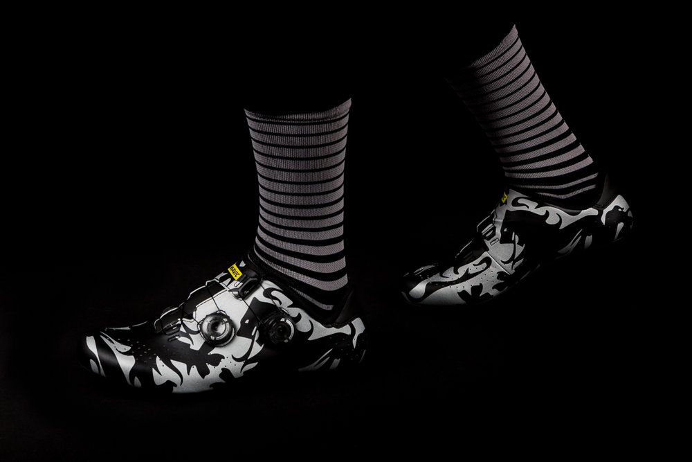The Team Dream Team x Radavist socks are the perfect match to the Mavic Cosmic Pro LTD (Paris Roubaix)