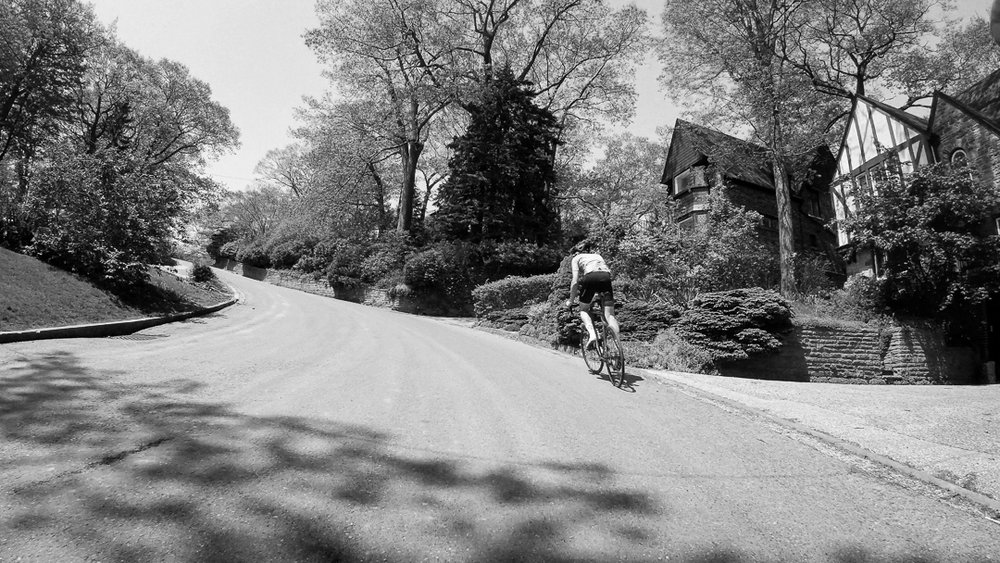 The east end wall, a 22 degree S bend climb up Fallingbrook.