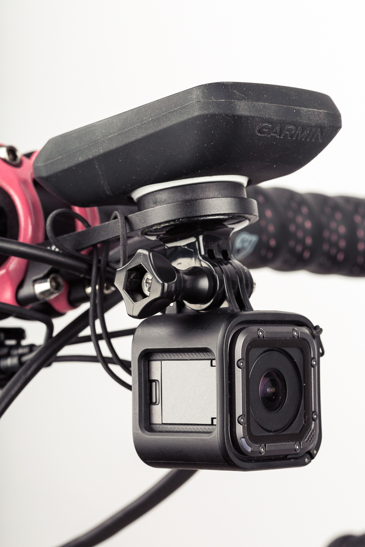 Custom DIY GoPro dual mount on an ENVE stem mount.