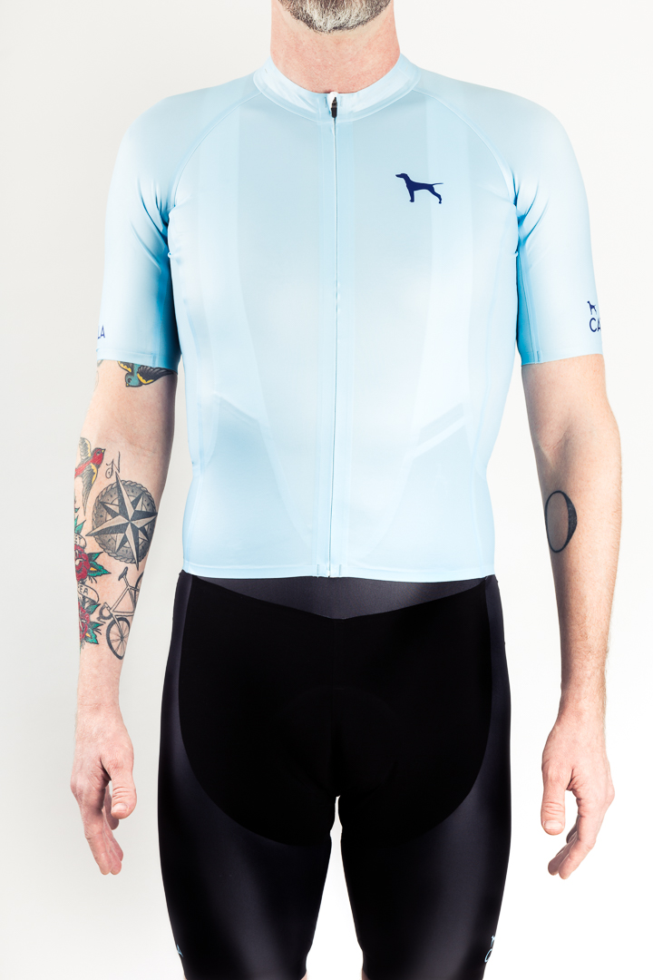 The overall fit of the Catella GMR seamless jersey and bibs is akin to a skin suit.