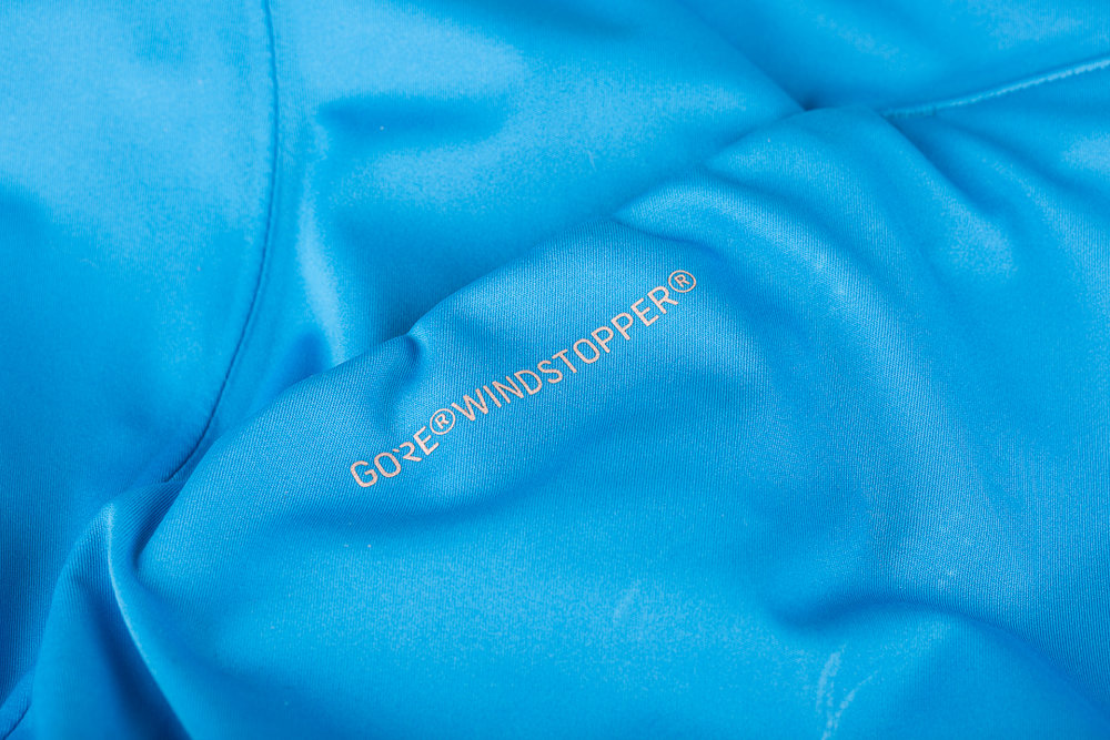 The 7mesh Corsa Softshell is made with WINDSTOPPER 174P from GORE