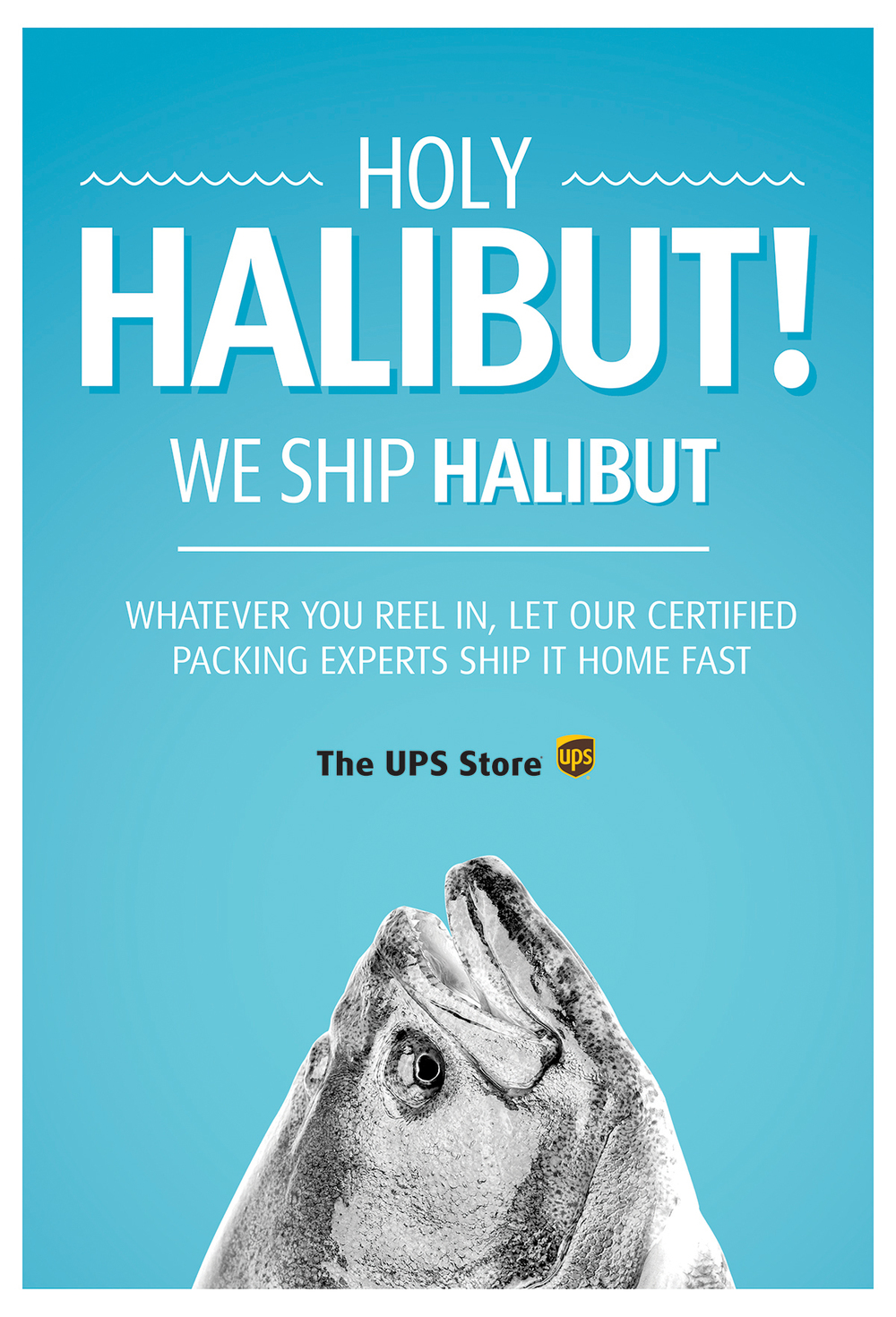 The ups store fish basketball toys ken spera halibutposterg reheart Choice Image