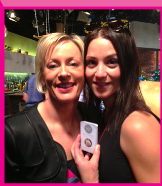 Jacinda repping Spundies with Australian journalist Amanda Keller
