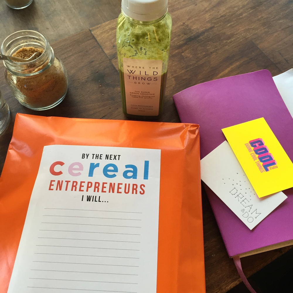 We love the hustle: Cereal Entrepreneurs presents, featuring our biz cards.