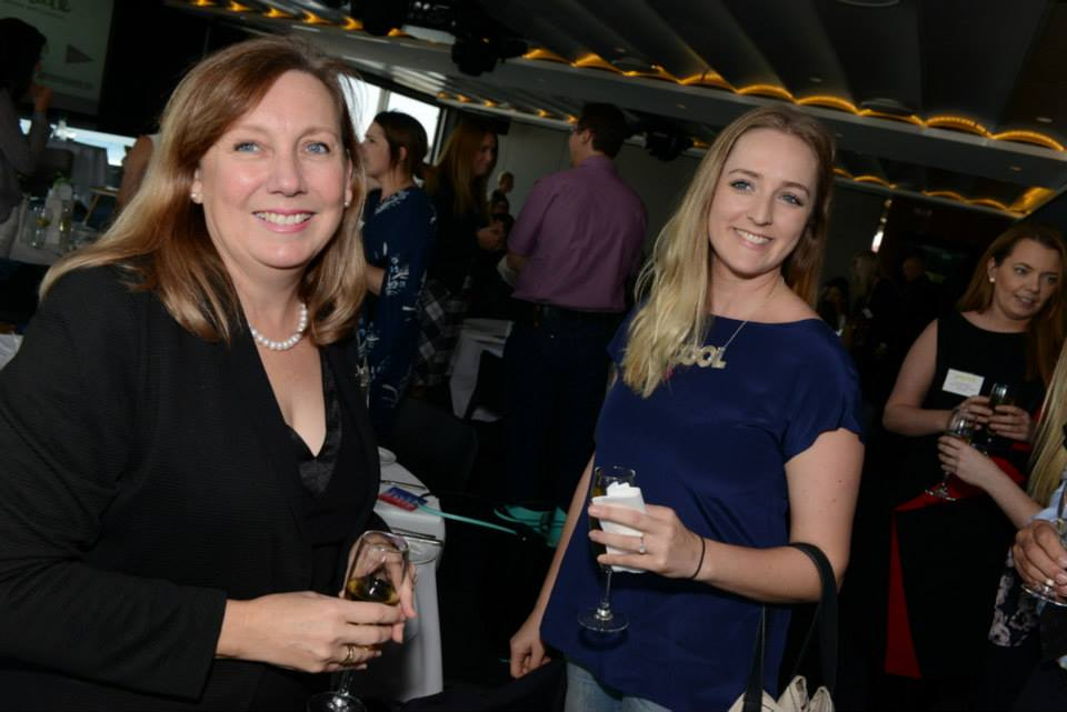 Amy from Cool People (right) hustling hard at the Rethink event