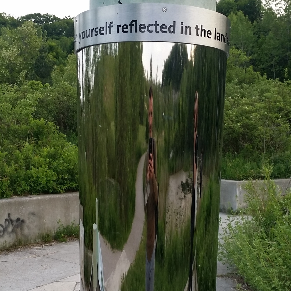 see yourself reflected in the landscape