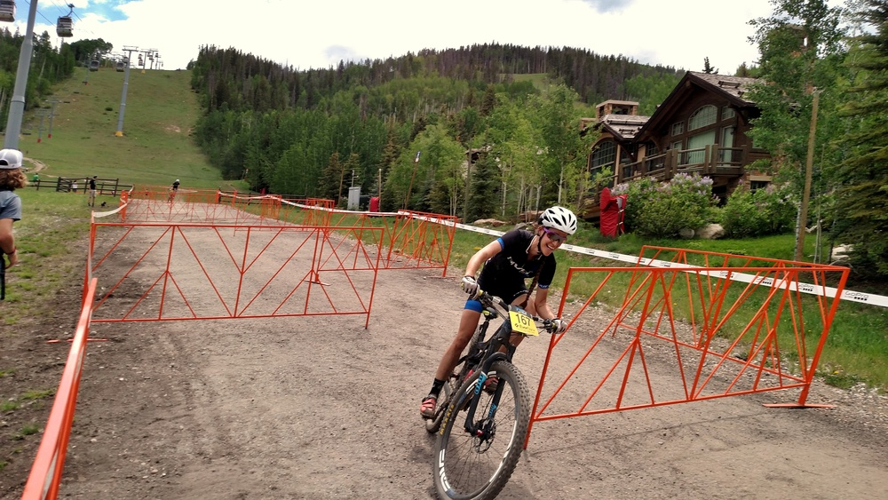 The closely (and poorly) placed gates at the finish line were probably the most technical part of the course. There's nothing like racing well for 20+ miles only to nearly eat it at the end!