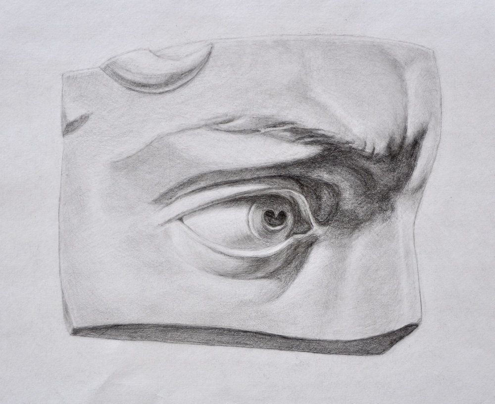 - Master Copy of a drawing of Michelangelo cast