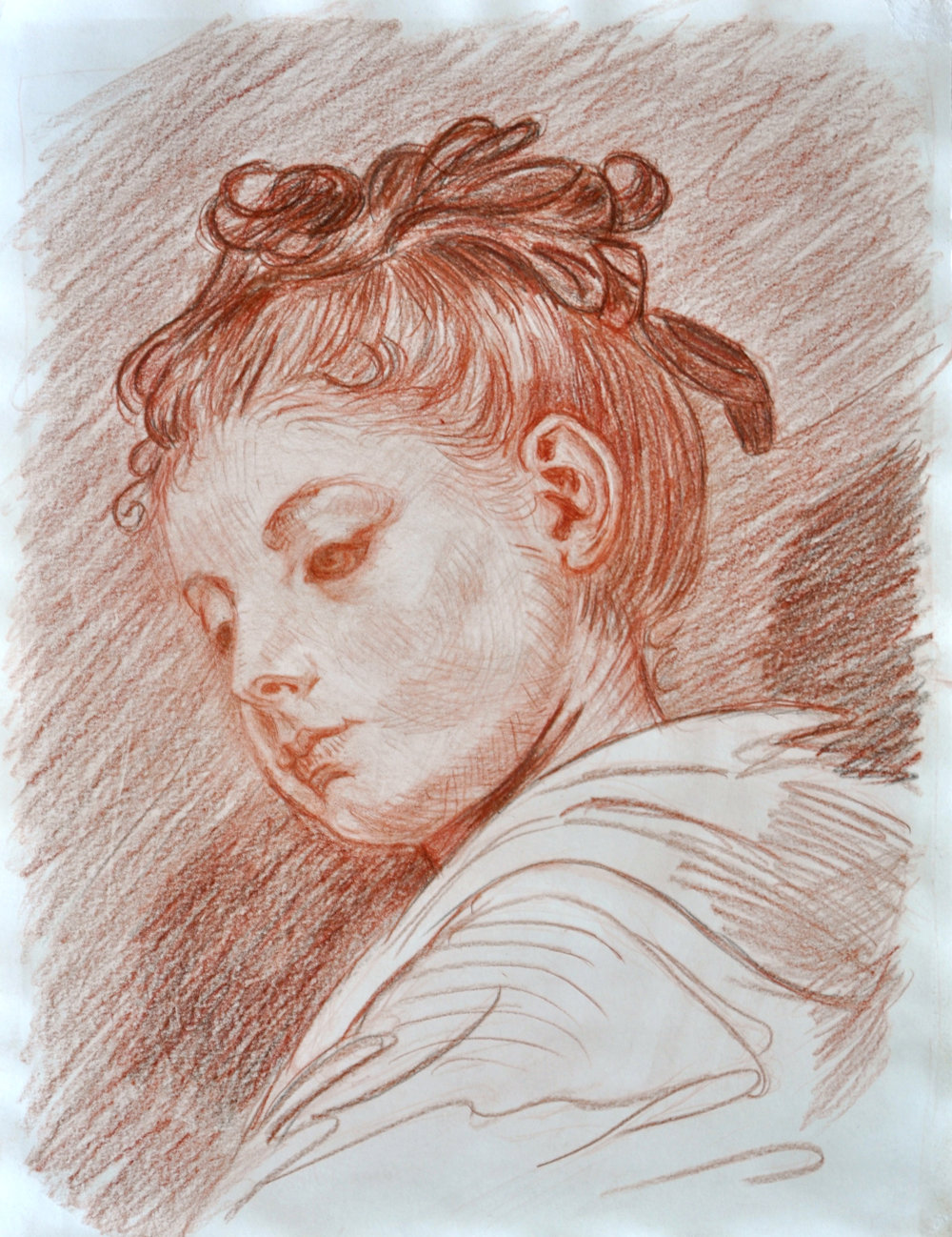 - This is a student's master copy of a drawing after Jean Baptiste Greuze. Doing copy drawings and paintings teach students how to see think and draw like the masters. It's just like learning a classical piano piece.