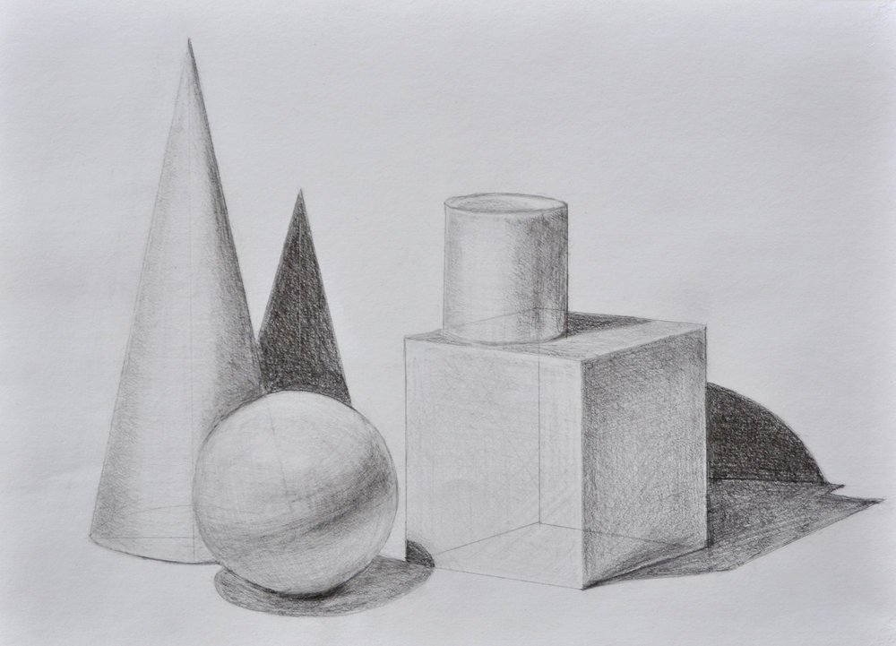 - Rendered geometric solids