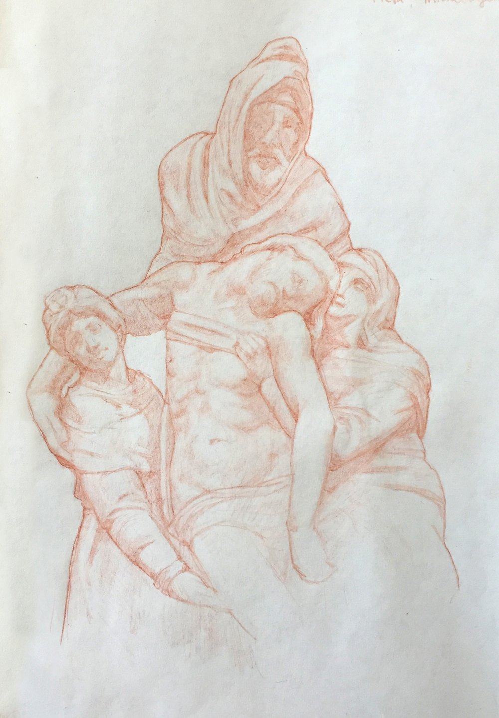 Observational Study-Florentine Pieta, Michelangelo